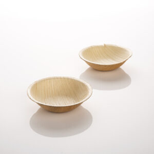 Palm Leaf Bowl Small Round 25 Pack
