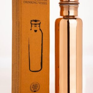 Copper Water Bottle Natural finish