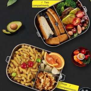 Bento Lunch Box Large size with 3 compartments.