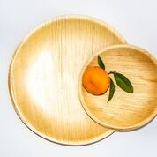 Palm Leaf Plate Small Round pack of 10